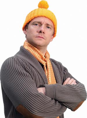 Martin Freeman - Orange Woolly Hat (1)
