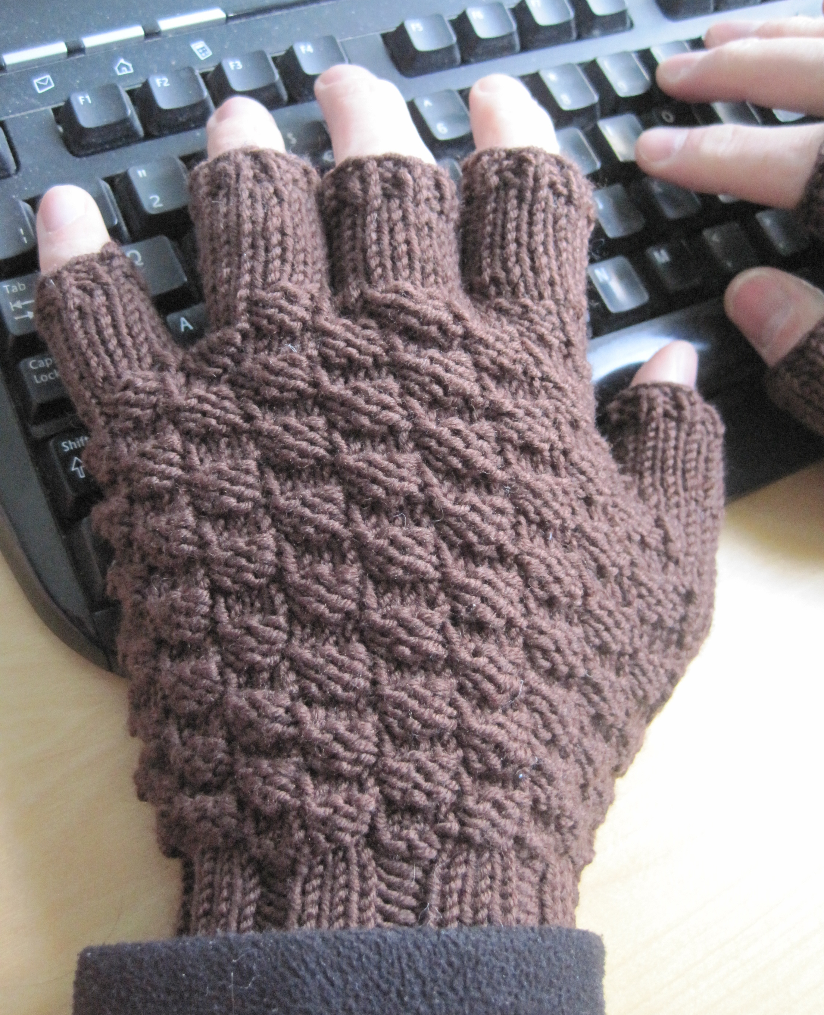 Meeting a need: manly fingerless gloves - The penguin with the ...