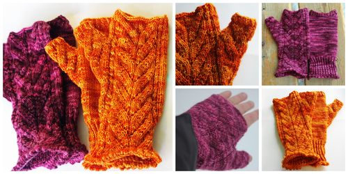 Purple gold mitt collage